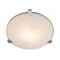 Access 50070-BS/WHT Luna 1 Light 17 inch Brushed Steel Flush Mount Ceiling Light