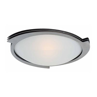 Access Lighting Triton 1 Light Flush Mount in Brushed Steel with Frosted Glass C50071BSFSTEN1113BS