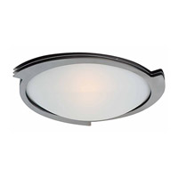 Triton 1 Light 14 inch Brushed Steel Flush Mount Ceiling Light