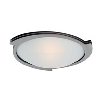 Triton 1 Light 19 inch Brushed Steel Flush Mount Ceiling Light