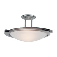 Access Lighting Triton 1 Light Semi-Flush in Brushed Steel 50075-BS/FST
