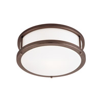 Conga 1 Light 12 inch Bronze Flush Mount Ceiling Light in Incandescent