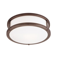 Conga 2 Light 16 inch Bronze Flush Mount Ceiling Light in Incandescent