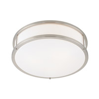 Access Lighting Conga 2 Light Flush Mount in Brushed Steel with Opal Glass C50080BSOPLEN1218BS