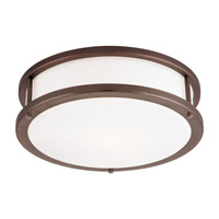 Conga 3 Light 19 inch Bronze Flush Mount Ceiling Light in Incandescent