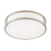 Conga 3 Light 19 inch Brushed Steel Flush Mount Ceiling Light in Incandescent