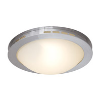 Access Lighting Eros 1 Light Flush Mount in Brushed Steel 50082-BS/OPL