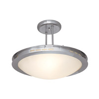 Access Lighting Eros 1 Light Semi-Flush in Brushed Steel 50084-BS/OPL photo thumbnail