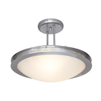 Access Lighting Eros 1 Light Semi-Flush in Brushed Steel 50085-BS/OPL photo thumbnail
