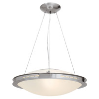 Access Lighting Eros 1 Light Pendant in Brushed Steel 50088-BS/OPL photo thumbnail