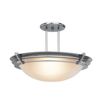 Access Lighting Saturn 1 Light Semi-Flush in Brushed Steel 50094-BS/FST