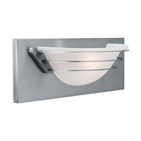 Access Lighting Saturn 1 Light Vanity in Brushed Steel 50096-BS/FST photo thumbnail