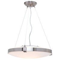 Luna 1 Light 20 inch Brushed Steel Pendant Ceiling Light
