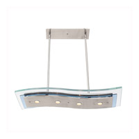 Access Lighting Aquarius 4 Light Pendant in Brushed Steel 50107-BS/CLR