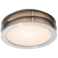 Access Lighting Iron 1 Light Flush Mount in Brushed Steel 50130LED-BS/FST