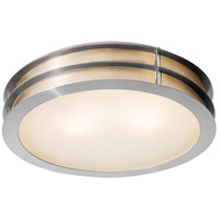 Iron LED 16 inch Brushed Steel Flush Mount Ceiling Light