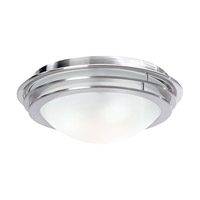 Access Lighting Genesis 2 Light Flush Mount in Brushed Steel 50134-BS/FST
