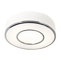 Access 50143-CH/OPL Aero 1 Light 16 inch Chrome Flush Mount Ceiling Light