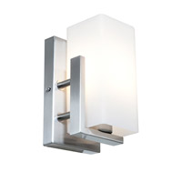 Access Lighting Erin 1 Light Wall/Vanity Fixtures in Brushed Steel with Opal Glass 50192-BS/OPL