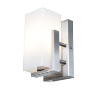 Access Lighting Erin 1 Light Wall/Vanity Fixtures in Brushed Steel with Opal Glass 50193-BS/OPL