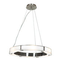Access Lighting Oracle 6 Light Chandelier in Brushed Steel with Frosted Glass 50465-BS/FST photo thumbnail