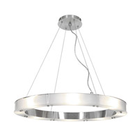 Access Lighting Oracle 8 Light Chandelier in Brushed Steel with Frosted Glass 50466-BS/FST