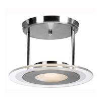 Helius 1 Light 12 inch Brushed Steel Semi-Flush Ceiling Light
