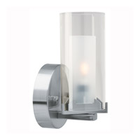 Access Lighting Proteus 1 Light Sconce in Brushed Steel 50505-BS/FRC