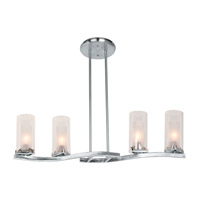 Access Lighting Proteus 4 Light Chandelier in Brushed Steel 50506-BS/FRC
