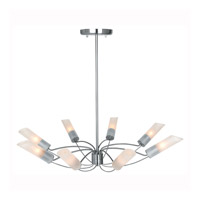 Access Lighting Solar 8 Light Chandelier in Brushed Steel 50509-BS/FST photo thumbnail
