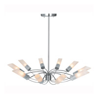 Access Lighting Solar 10 Light Chandelier in Brushed Steel 50510-BS/FST