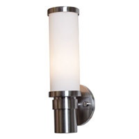 Access Lighting Zylinder 1 Light Sconce in Brushed Steel 50569-BS/OPL photo thumbnail