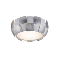 Layers LED 14 inch White Flush Mount Ceiling Light in Chrome