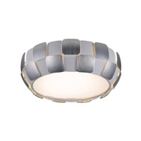 Access 50901-WH/CH Layers 4 Light 18 inch White Flush Mount Ceiling Light in Chrome, Incandescent