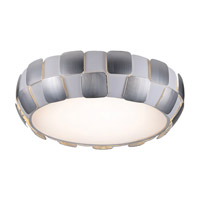 Layers 6 Light 22 inch White Flush Mount Ceiling Light in Chrome, Incandescent