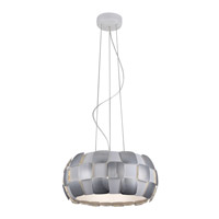Layers LED 18 inch White Pendant Ceiling Light in Chrome