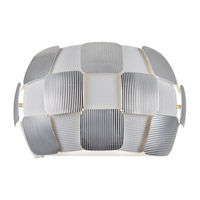 Access 50907-WH/CH Layers 2 Light 13 inch White Wall Sconce Wall Light in Incandescent, Chrome