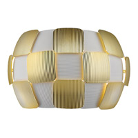 Access 50907-WH/GLD Layers 2 Light 13 inch White Wall Sconce Wall Light in Incandescent Gold Acrylic