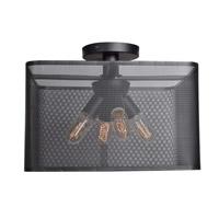 Access 50920LEDDLP-BL Epic LED 16 inch Black Semi Flush Mount Ceiling Light