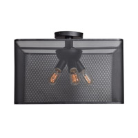Access 50921LEDDLP-BL Epic LED 20 inch Black Semi Flush Mount Ceiling Light