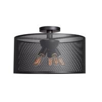 Access 50922LEDDLP-BL Epic LED 20 inch Black Semi Flush Mount Ceiling Light