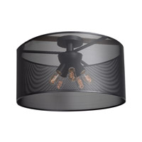 Epic 5 Light 24 inch Black Semi Flush Mount Ceiling Light