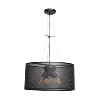 Epic 5 Light 20 inch Black Pendant Ceiling Light