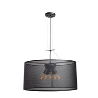 Epic 6 Light 28 inch Black Pendant Ceiling Light