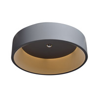 Access 50939LEDBT-SSLD-GRY/ACR Radiance LED 18 inch Gray Flush Mount Ceiling Light in Grey