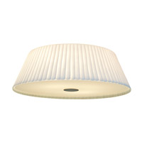 Access Lighting Leilah 4 Light Flush Mount in Brushed Steel with Scalloped White Glass C50957BSWHEN1413BS