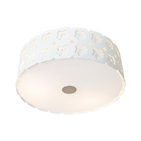 Access Lighting Lacey 3 Light Flush Mount in Chrome 50992-CRM