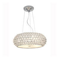 Access Lighting Kristal 3 Light Crystal Cable Pendant in Chrome with Clear Crystal Glass 51000-CH/CCL
