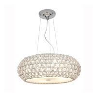 Access Lighting Kristal 6 Light Crystal Cable Pendant in Chrome with Clear Crystal Glass 51001-CH/CCL