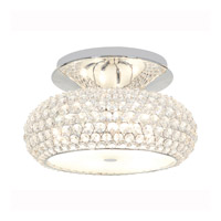 Access Lighting Kristal 3 Light Crystal Semi-Flush in Chrome with Clear Crystal Glass 51002-CH/CCL photo thumbnail